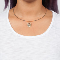 Sun and Moon Collar Necklace