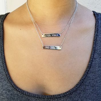 Double Bar Personalized Necklace