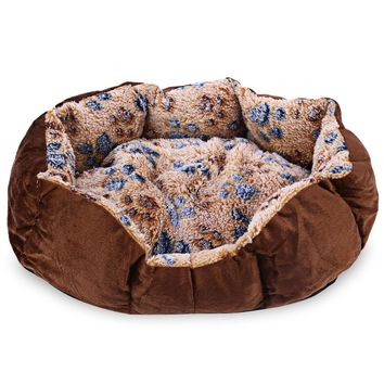 Washable Footprint Dog  Bed