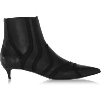 ONETOW balenciaga paneled leather and elastic ankle boots 2