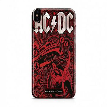 ACDC rock n roll train iPhone X case