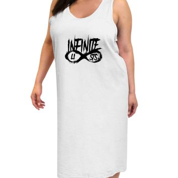 Infinite Lists Adult Tank Top Dress Night Shirt by TooLoud