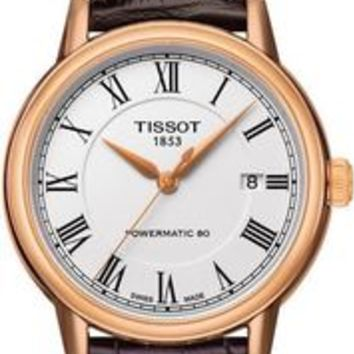 Tissot Carson Powermatic Rose Gold PVD Mens Watch T0854073601300