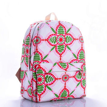 Print Canvas Geometric Backpack = 4888019332