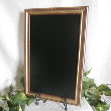 Decorative Framed Chalkboard, large framed chalkboard, kitchen menu board, gold chalkboard frame, rustic chalkboard, chalkboard, chalk board