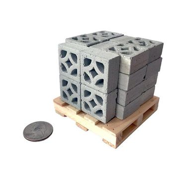 1:12 Scale Mini Empress Breeze Blocks (24pk + Pallet)