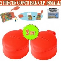 Copco 2 Pack Small Bag Cap Cover and Seal Your Bags For Easy & Fresh Storage(Red)