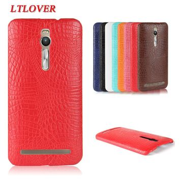 Fashion Type Crocodile Skin PU Leather Phone Case For Asus Zenfone 2 ZE550ML ZE551ML 5.5 inch back cover mobile phone shell