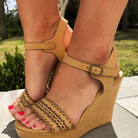 Best Day Ever Wedges: Tan