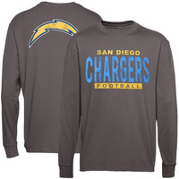 San Diego Chargers Junk Food Handoff Long Sleeve T-Shirt – Gray