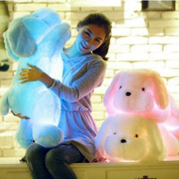 Cute cartoon glow gift dog doll
