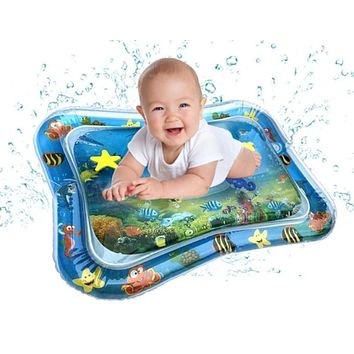 Inflatable Infants Tummy Time Activity Mat Baby Play Water Mat Toys for Kids Mat Summer Swimming Beach Pool Game Baby Gym Matt