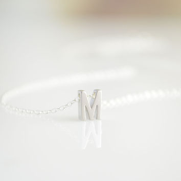Capital Letter Necklace - Silver, Gold, or Rose Gold