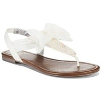 Material Girl Swan Flat Thong Sandals, Only at Macy's | macys.com