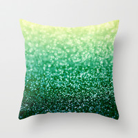 Blizzard over Evergreen Throw Pillow by Lisa Argyropoulos