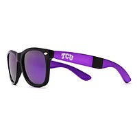 TCU Throwback Sunglasses in Black and Purple by Society43
