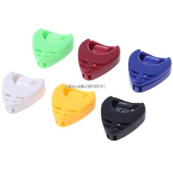 5pcs Guitar Accessories Plectrum Heart Shaped Pick Holder Box Musical Instrument