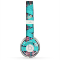 The Turquoise Laced Shoe Skin for the Beats by Dre Solo 2 Headphones