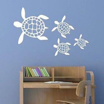 Sea Turtle Scene Vinyl Wall Decal Sticker #B00BB3CSYG