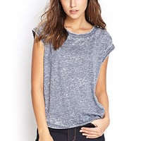 FOREVER 21 Soft Knit Burnout Tee