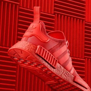 Adidas Nmd R1 Solar Red S31507 Boost Sport Running Shoes Classic Casual Shoes Sneakers