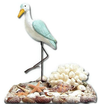 Sand Piper Seashell Art Sculpture