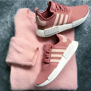 """Adidas"" Women Fashion Trending Running Sports NMD Shoes Pink"