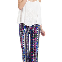 Printed Dazed and Confused Foldover Pants