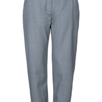 Tie-Side Takashi Wool Trousers by Boutique - Misty Blue