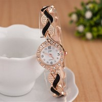 Bracelet Watches Women Luxury Crystal Dress Ladies Watch