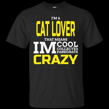 Custom Tee I'm A Cat Lover