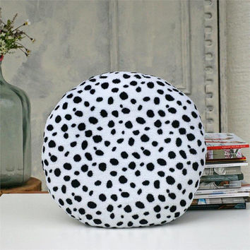 Polka dot pillow,Soft pillow,Black White pillow,Home decor pillows,Gift for mother,Decorative pillow,Polka dots,Womens gift,Soft pillow