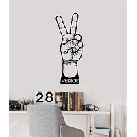 Vinyl Wall Decal Peace Sign Hand Hippie Love Any Room Decoration Stickers Mural (ig5432)