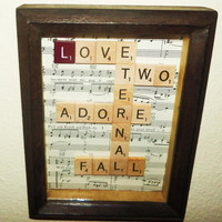Shadow Box Art Love Words Scrabble Art Valentine by Shannybeebo