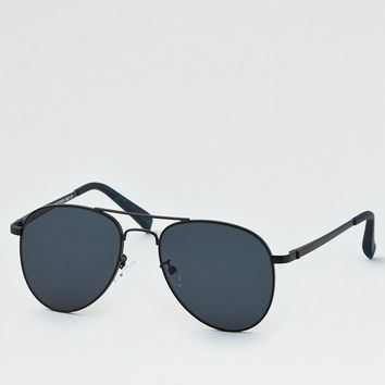 Black Pilot Sunglasses, Black