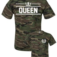 QUEEN t-shirt in camo style ★ SPECIAL ARMY COLLECTION ★