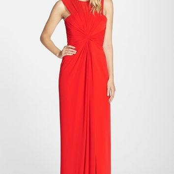 Women's BCBGMAXAZRIA 'Ninah' Sheer Yoke Gown,