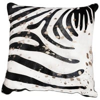 Splash Zebra 22x22 Pillow, Gold, Decorative Pillows
