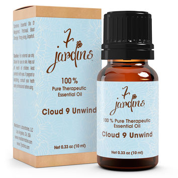 7 Jardins Cloud 9 Essential Oil Blend- 100% Pure, No Dilution, No Fillers- For Peace And Relaxation.