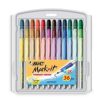 BIC Marking Permanent Marker Fashion Colors, Fine Point, Assorted Colors, 36-Count