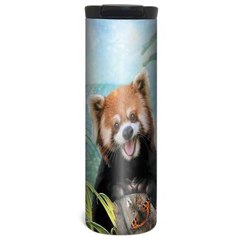 Red Panda Selfie Barista Tumbler Travel Mug - 17 Ounce, Spill Resistant, Stainless Steel & Vacuum Insulated