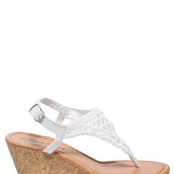 Twisted Crochet Wedge Sandals