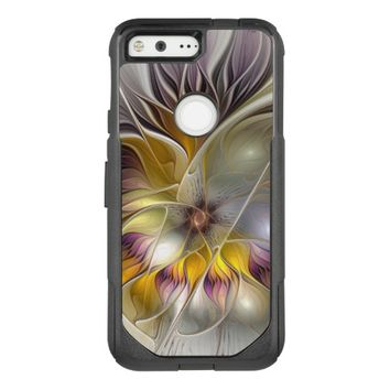 Abstract Colorful Fantasy Flower Modern Fractal OtterBox Commuter Google Pixel Case