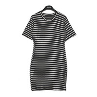 Basic Striped Dress | FashionShop【STYLENANDA】