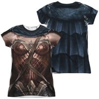 Wonder Woman Batman V Superman Sublimated Juniors Costume T-Shirt