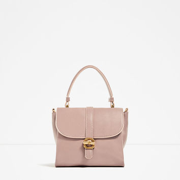 MINI CITY BAG WITH CHAIN HANDLEDETAILS
