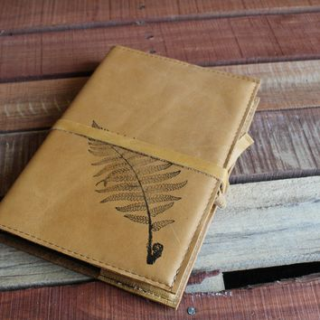 Large Fern Leather Journal