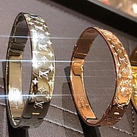 LV  Trending Women Men Stylish High End Couple Stainless Steel Bracelet