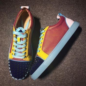 Cl Christian Louboutin Low Style #2081 Sneakers Fashion Shoes