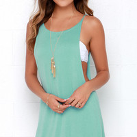 To Be Carefree Seafoam Sleeveless Dress